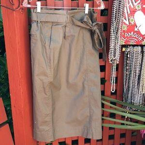 UNIQLO High Waist Belted Narrow Skirt - NWT